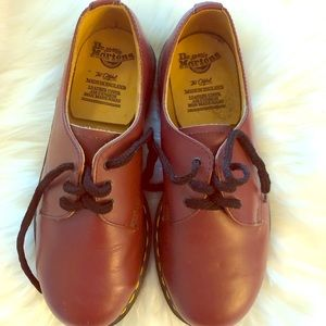 Dr. Martens cherry red Size 4 leather